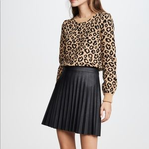 Cupcakes and Cashmere - Cannes Faux Leather Skirt